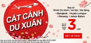 Air Asia khuyến mãi vé máy bay đi Đông Nam Á chỉ từ 3 USD