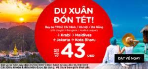 Du xuân đón Tết đi Maldives với Air Asia giá chỉ từ 43 USD
