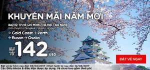 Air Asia khuyến mãi năm mới vòng quanh thế giớivới giá chỉ từ 142 USD