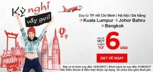 Kỳ Nghỉ Vẫy Gọi bay một chiều cùng Air Asia chỉ từ 6 USD