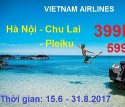 VNA: Vé máy bay Hà Nội đi đảo Lý Sơn và Pleiku siêu rẻ
